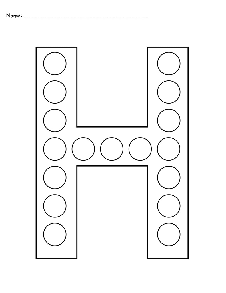 FREE Letter H Do-A-Dot Printables - Uppercase & Lowercase ...