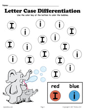 FREE Letter I Do-A-Dot Printables For Letter Case Differentiation Practice!