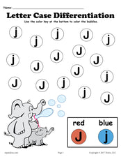 FREE Letter J Do-A-Dot Printables For Letter Case Differentiation Practice!