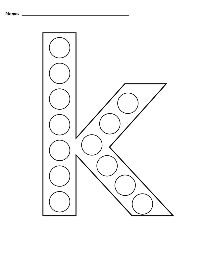 Exhilarating image with printable letter k