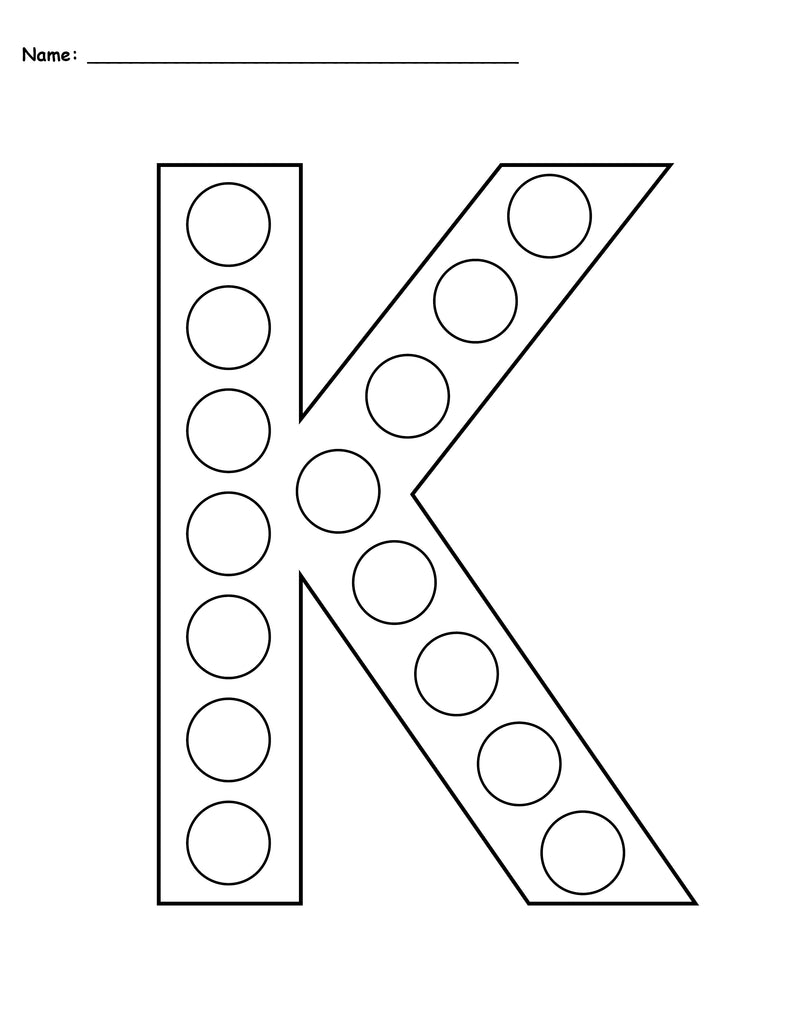 free letter k do a dot printables uppercase lowercase supplyme. Black Bedroom Furniture Sets. Home Design Ideas