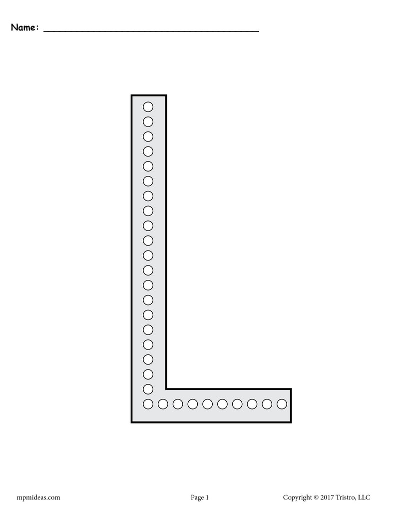 FREE Letter L Q,Tip Painting Printables , Includes Uppercase