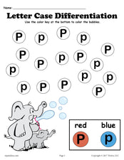 FREE Letter P Do-A-Dot Printables For Letter Case Differentiation Practice!