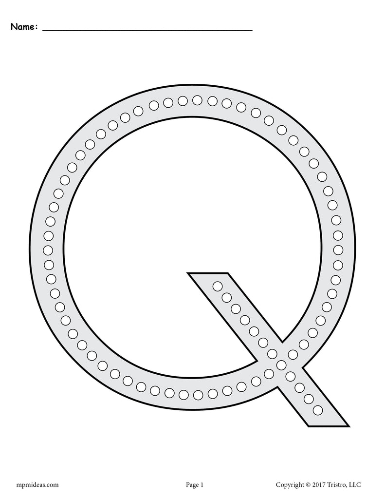graphic regarding Q Tip Painting Printable called Absolutely free Letter Q Q-Suggestion Portray Printables - Contains Uppercase