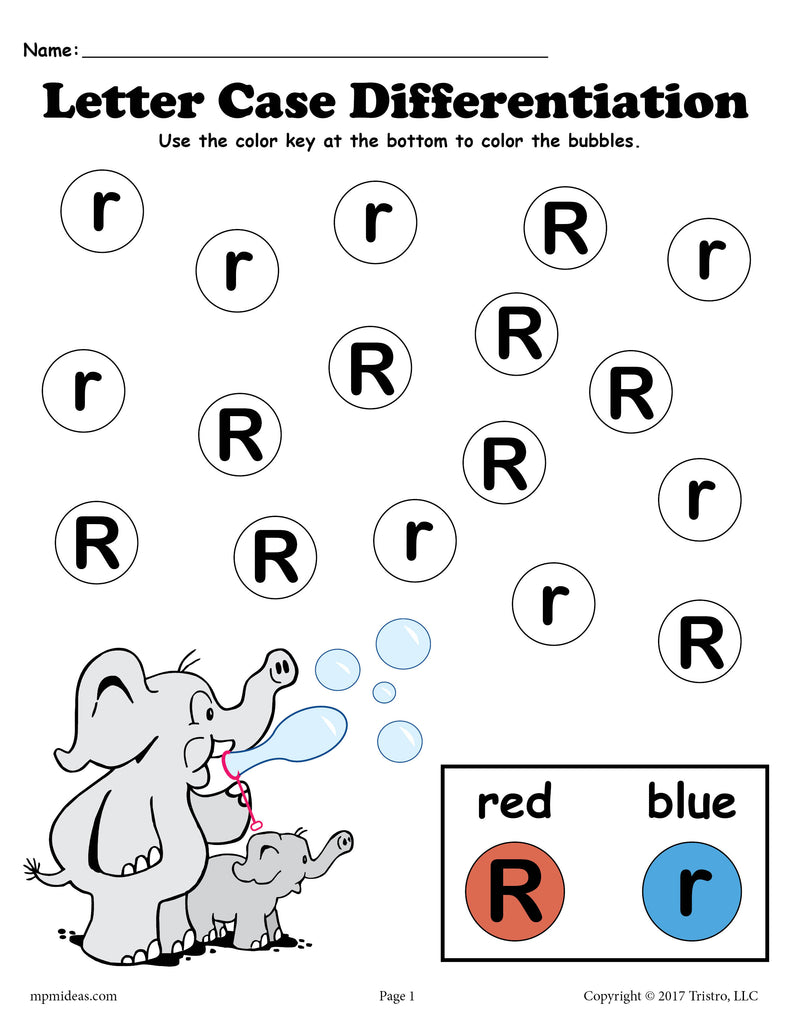 Letter R Do-A-Dot Printables For Letter Case