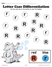 FREE Letter R Do-A-Dot Printables For Letter Case Differentiation Practice!