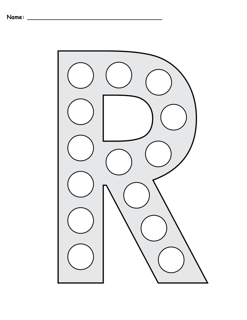 Free Letter R Do A Dot Printables Uppercase Lowercase