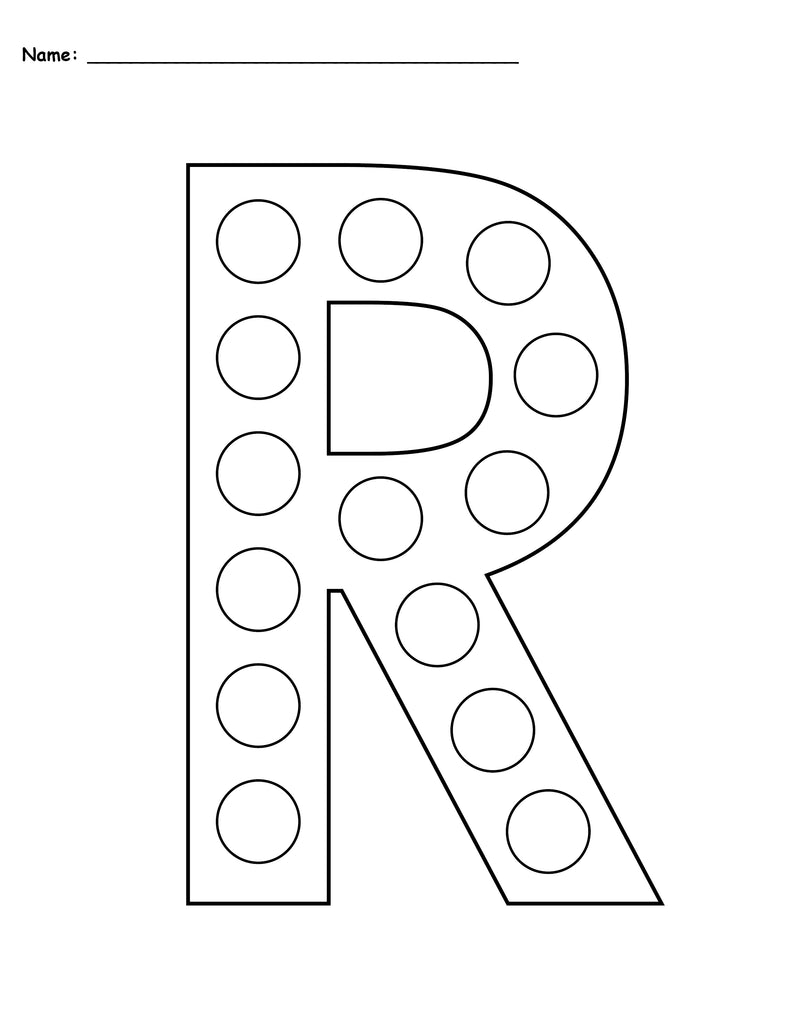 picture about Printable Letter R named Totally free Letter R Do-A-Dot Printables - Uppercase Lowercase