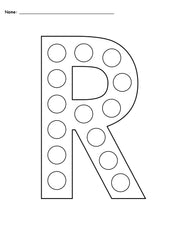 FREE Letter R Do-A-Dot Printables - Uppercase & Lowercase!