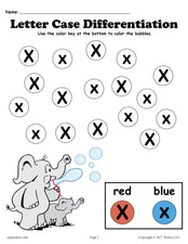FREE Letter X Do-A-Dot Printables For Letter Case Differentiation Practice!