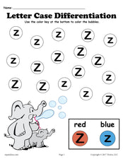 FREE Letter Z Do-A-Dot Printables For Letter Case Differentiation Practice!