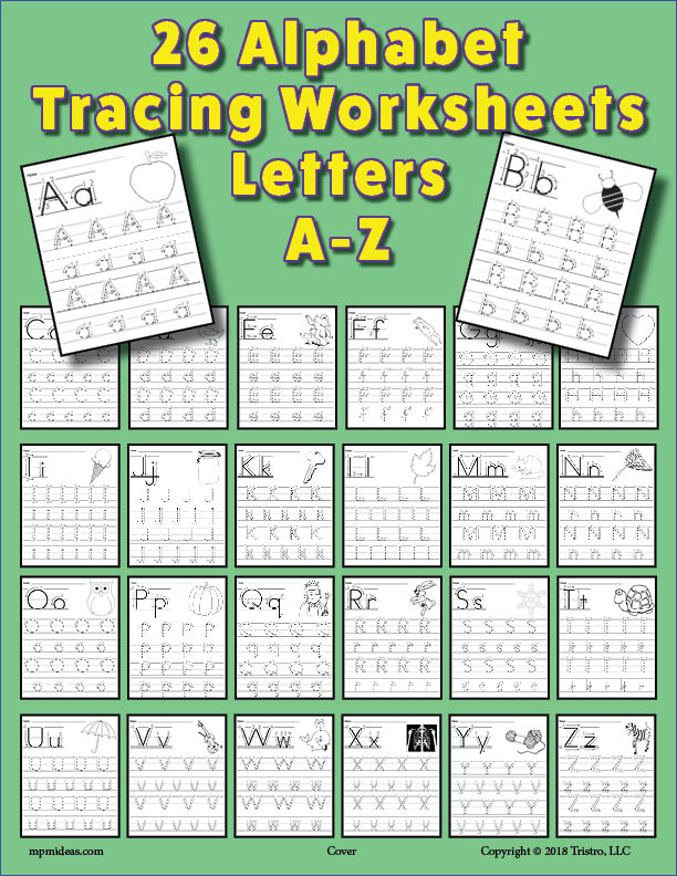 26 Alphabet Letter Tracing Worksheets With Number and Arrow Guides!