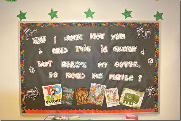 Classroom Design For Valentines Day ~ Read me maybe february library bulletin board display