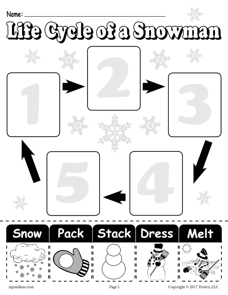 Lifecycleofasnowman X besides D F E Ebbbea A C C A moreover Fry Sight Words together with Winter Picture Bar Graph Worksheets together with pose De pose Numbers. on winter math worksheets 2nd grade