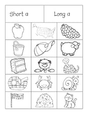 Short and Long Vowel Sorting Activity (with FREEbies!)