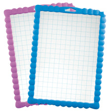 Transparent Grid Dry Erase Kidy' Board, 30 Pack