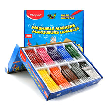Color'Peps Washable Fine Tip Markers, 200 Classroom Pack (10 Colors)