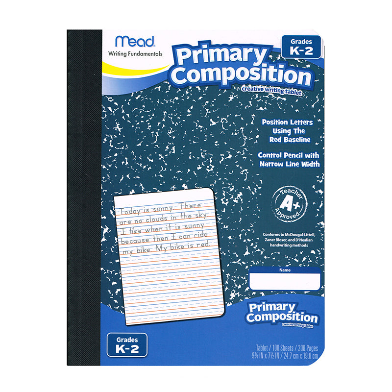 Primary Composition Book Full Page Ruled 100 Sheets