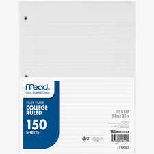 Notebook Paper College Ruled 150 Count