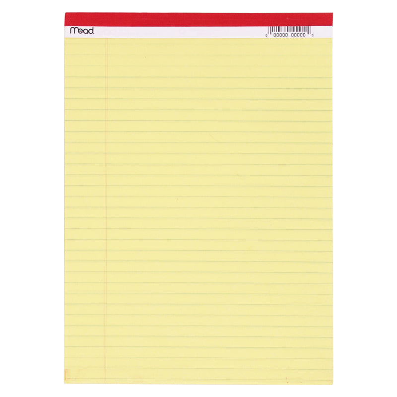Legal Pad 8.5 x 11.75 50 Count Canary