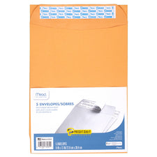Mead Press It Seal It 5 Count 9 x 12 Envelopes