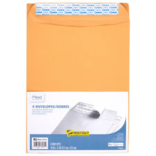 Mead Press It Seal It 4 Count 10 x 13 Envelopes