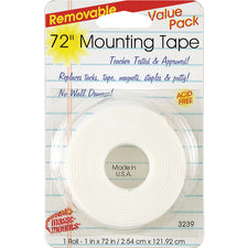 "Remarkably Removable Magic Mounting Tape Tabs And Chart Mounts 1"" x 72"""
