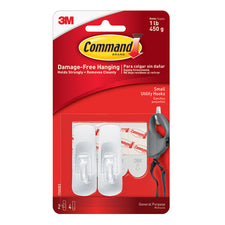 Command Adhesive Reusable Small Hooks Pack Of 2