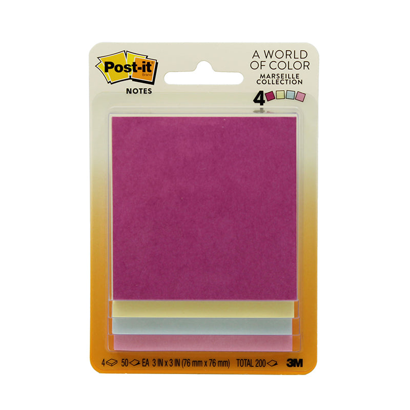 Pastel Post-It Notes, 4 Pads