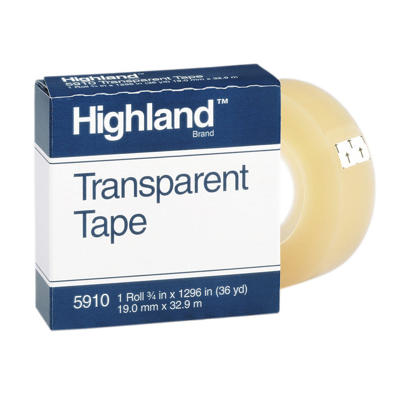 Tape Highland Transparent 3/4 x 1296