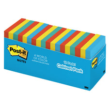"3"" x 3"" Post-It Notes In Cabinet Pack - Jaipur Collection, 18 Pads"