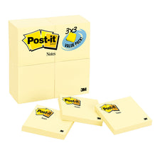 Post-It Notes Value Pk 24 Pads 3 x 3 Canary Yellow