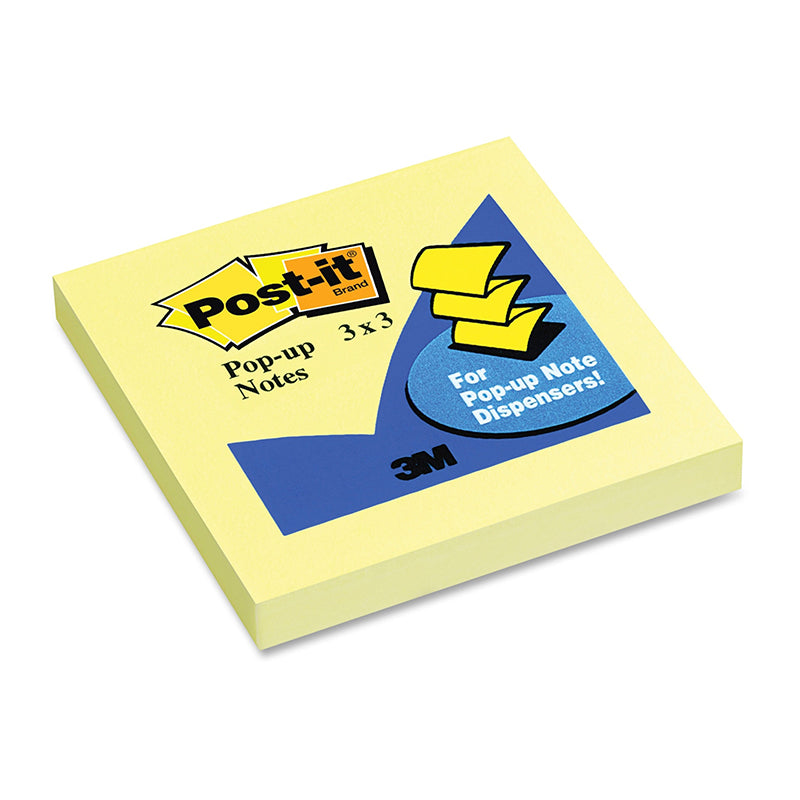 "Post-it Pop-up Notes, 100 Sheets, 3"" x 3"", Canary Yellow"