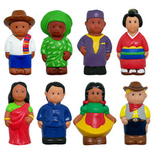 Get Ready Kids: Set of 8 Around-the-World Figures