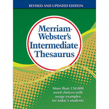 Merriam Webster's Intermediate Thesaurus, Hardcover