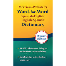 Merriam-Webster's Spanish-English, English-Spanish Dictionary