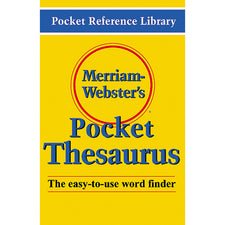 Merriam Websters Pocket Thesaurus Hardcover