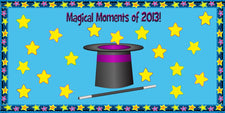 Magical Moments of 2013! - New Years Bulletin Board Idea