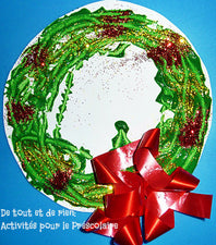 Magnet Painting - Creating a Festive Christmas Wreath!