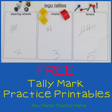 5 Free Printables for Practicing With Tallies!