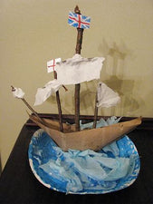Columbus Day - Creating Boats from Found Materials