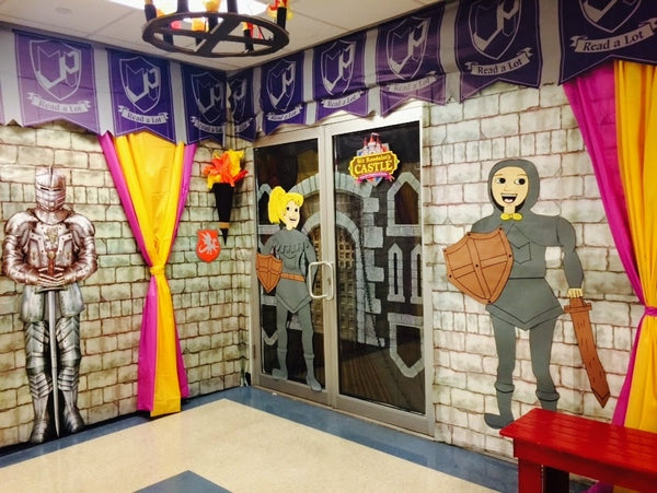 Spanish Classroom Decorations ~ Quot sir readalot medieval fair themed book decorations
