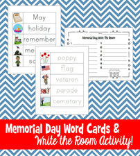 Memorial Day Word Wall & Write The Room Printables
