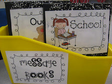 Writing Center Fun - Student Message Books