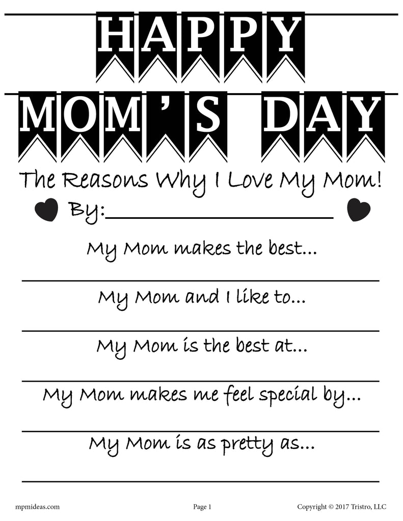 FREE Mother 39 s Day Writing Activity