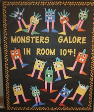 Monsters Galore! - Halloween Shape Bulletin Board