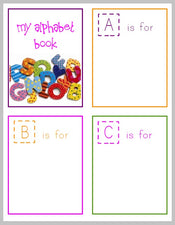 Free Printable Alphabet Book for Preschoolers!