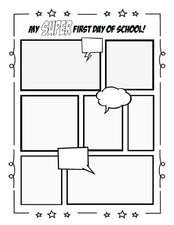 """My SUPER First Day of School!"" Writing Activity & Printable"