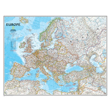 Europe Wall Map 30 x 24