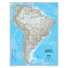 South America Wall Map 24 x 30